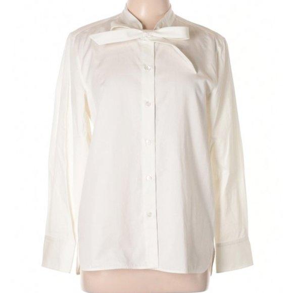 Coach Tops - Coach NWT Women's White Cotton Tie Button-down Top